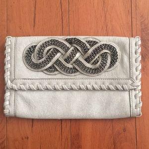Grey with chain design handbag